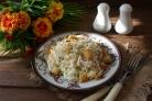 Салат удачный с сухариками