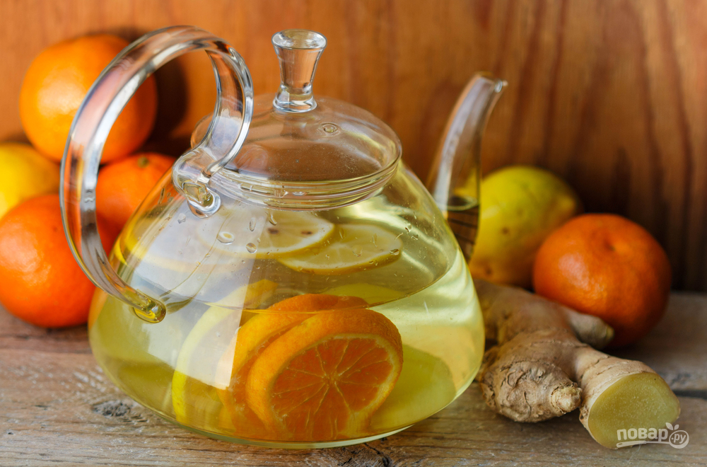 Чай с имбирем и цитрусовыми
