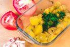 Запеченный картофель в микроволновке (за 10 минут)
