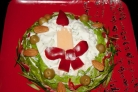 Салат Новогодняя свеча