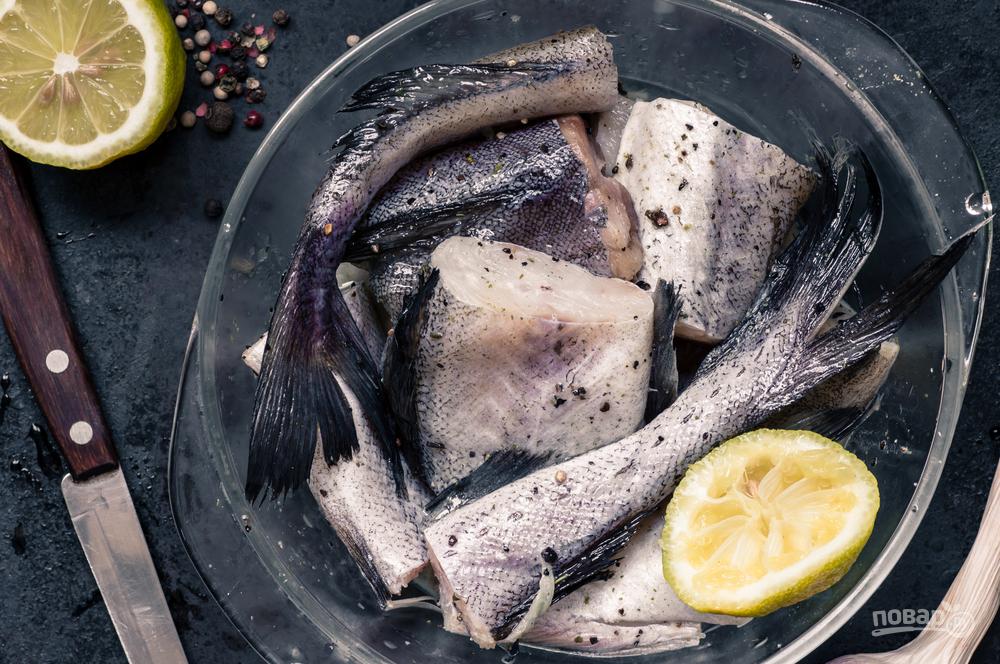 Рыба минтай кусочками