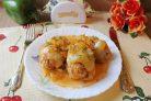 Перец фаршированный мясом и кабачками