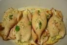 Кальмары с сыром и яйцом