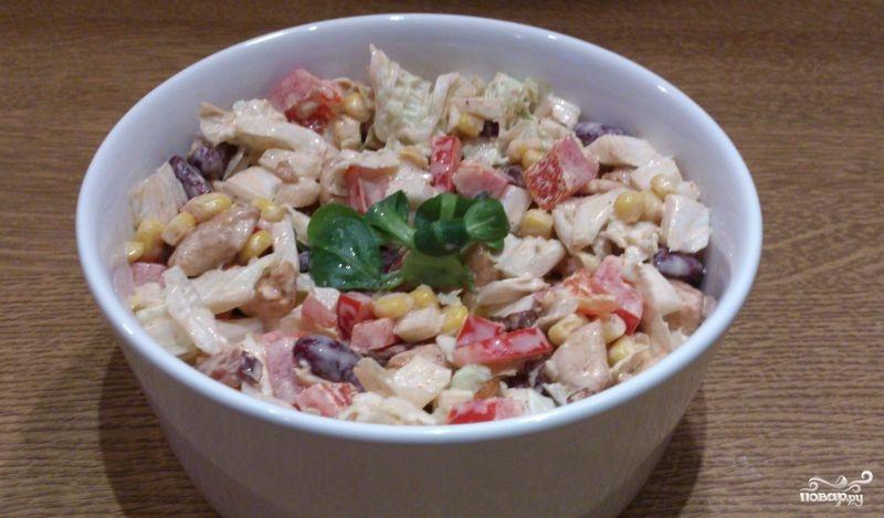 как приготовить мясной салат с перцами