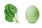 Крашеные яйца шпинатом (зеленые)