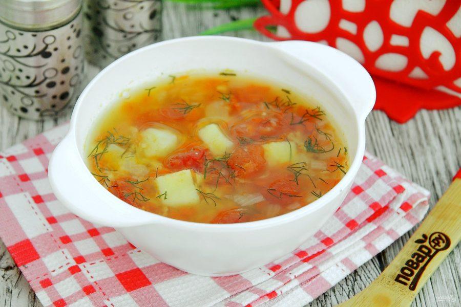 Гороховый суп с томатами