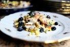 Куриный салат с сыром фета и кукурузой