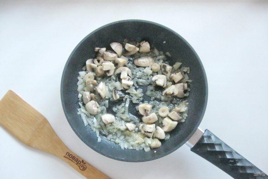 Ризотто с креветками и грибами