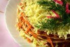 Закусочный торт с морковью без майонеза