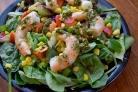 Зеленый салат с креветками