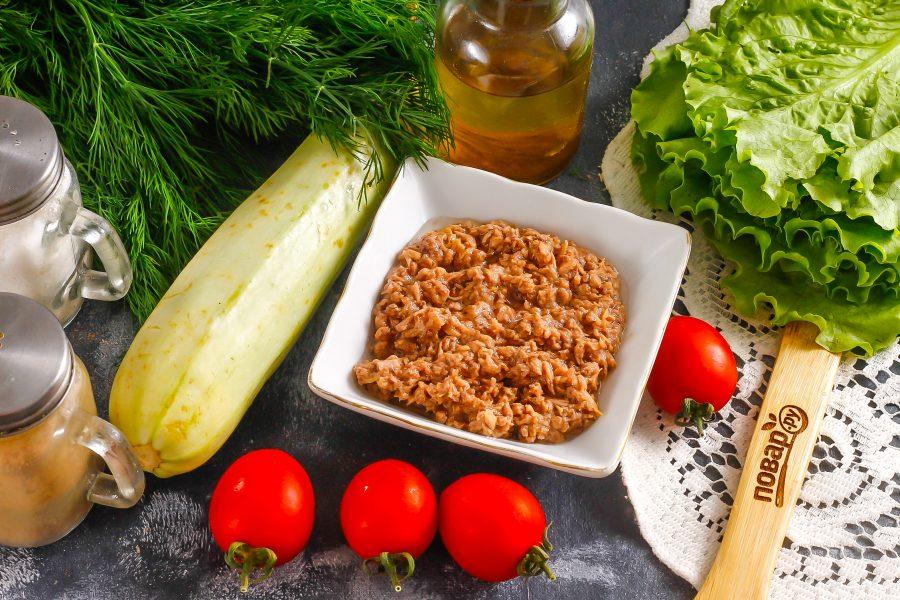 Салат из кабачков с тунцом