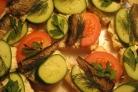 Бутерброды со шпротами и чесноком
