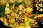 Вешенки, жареные с картошкой