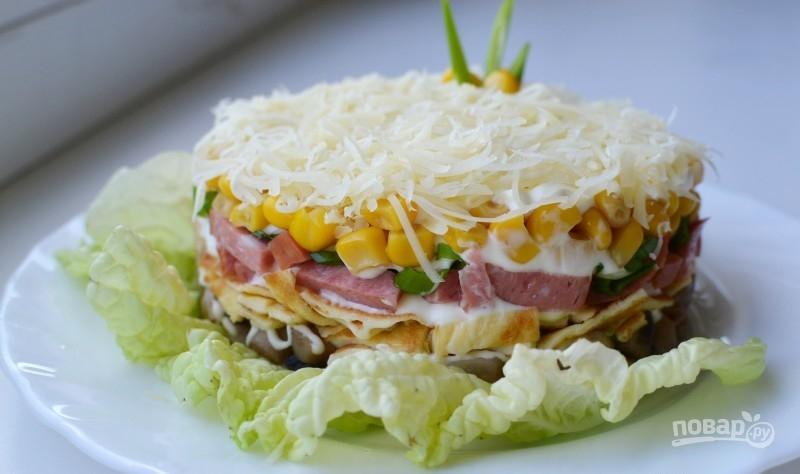 Салат из блинов