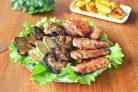 Мясо с овощами на гриле