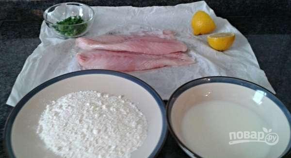 Филе окуня на сковороде