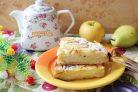 Пирог Невидимка из яблок и груш