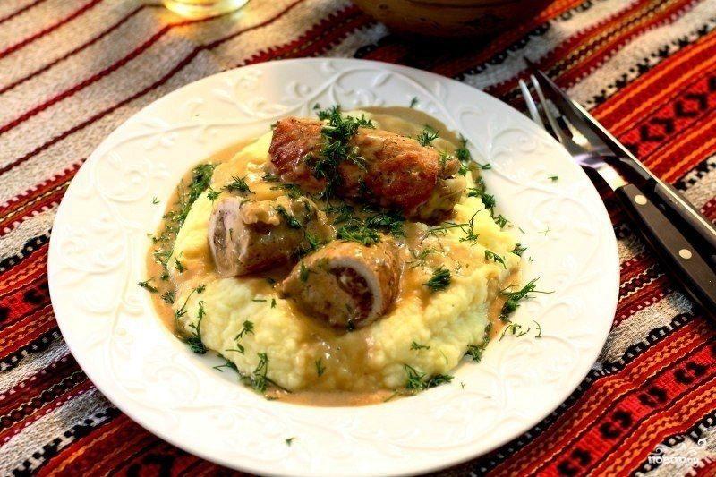 белый соус с грибами рецепты #15