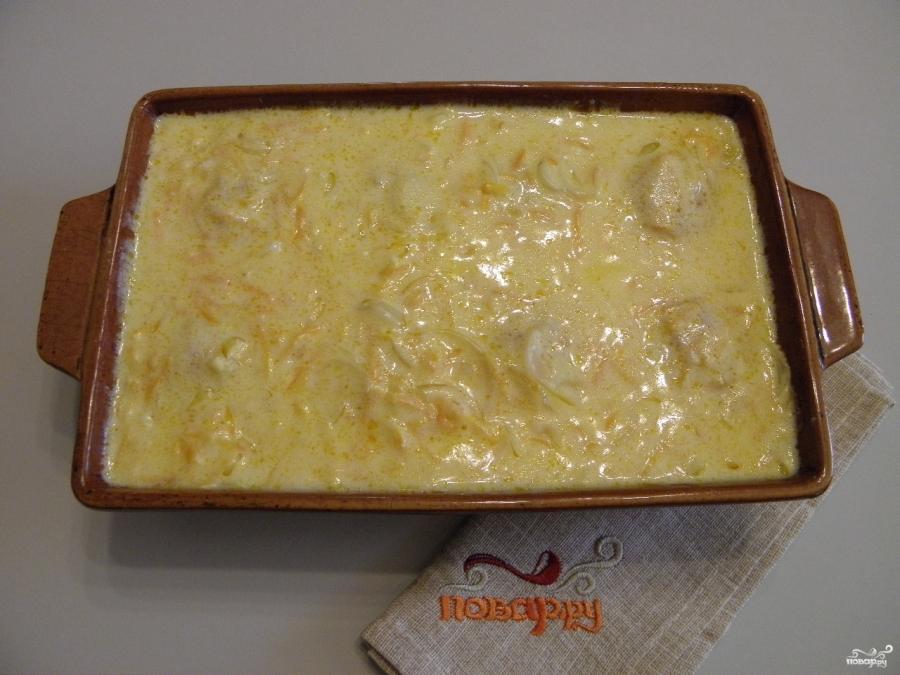 Тефтели под сметанным соусом