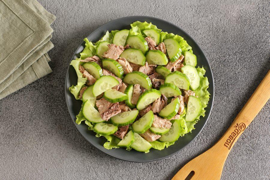 Рыбный диетический салат