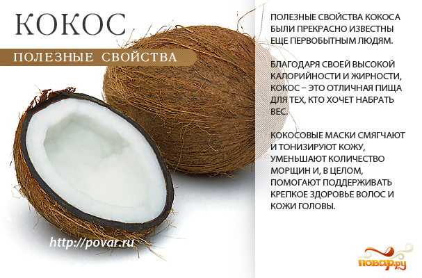 Кокос - полезные свойства