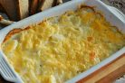 Картофельная запеканка с луком в сливках