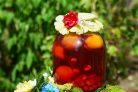 Компот из вишни и малины
