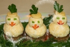 Закуска Снеговики к новогоднему столу
