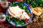 Закуска из крабовых палочек и сыра Мышка