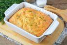 Пирог с сыром и зеленью на кефире