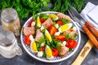 Салат с ростбифом и рукколой
