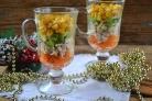 Новогодний салат в бокалах