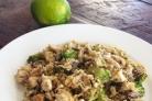 Салат с брокколи и грибами