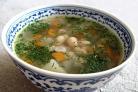 Рыбный суп с фасолью