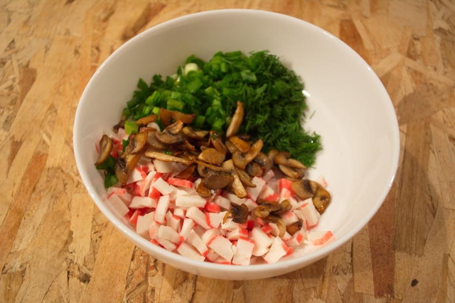 диетический салат с крабовыми палочками рецепт