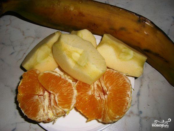 Слоеный фруктовый десерт