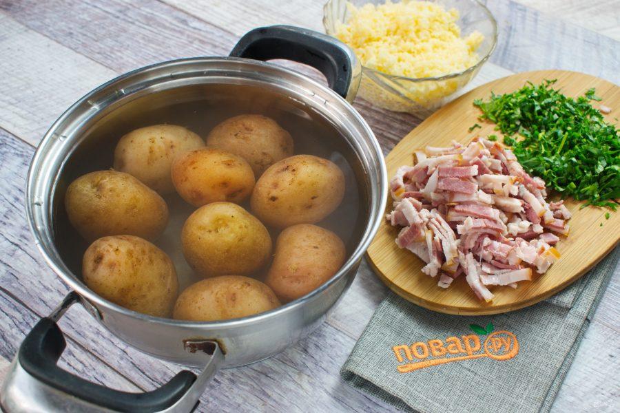 Запеченный хрустящий картофель с сыром