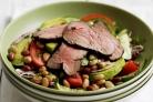 Салат с бобами и мясом