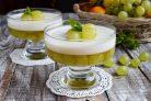 Виноградно-йогуртовое желе