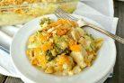 Курица, запечённая с рисом и овощами