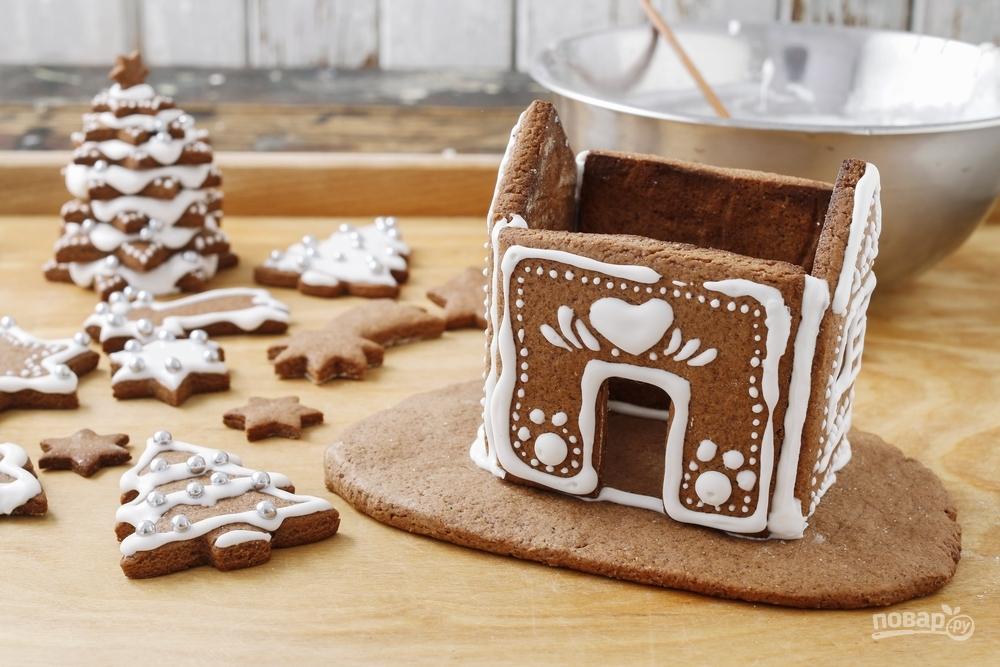 Красивый и вкусный имбирный домик