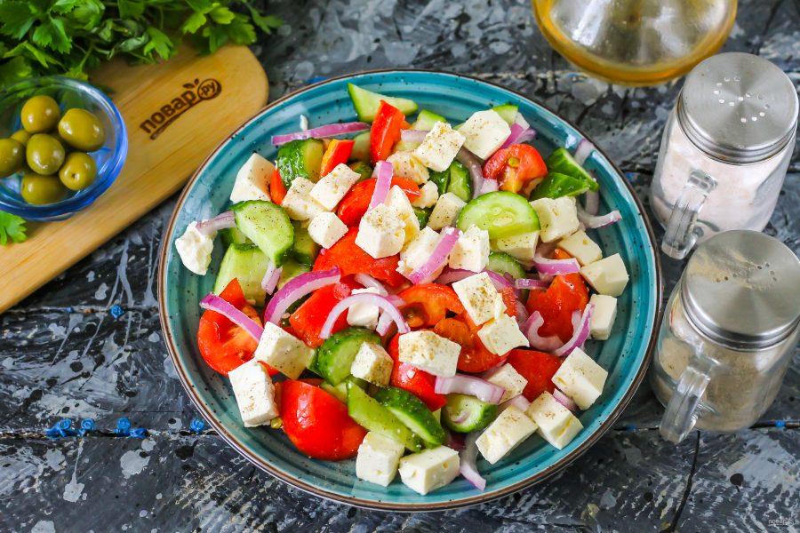 """Салат с сыром """"Сиртаки"""""""