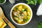 Картофельный суп с кроликом