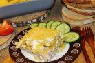 Фарш с картошкой и майонезом в духовке