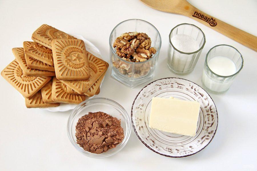 Ингредиенты для приготовления сладкой колбаски