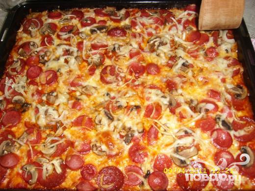 Пицца домашняя на кефире рецепт простой