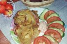 Картофельные розочки с беконом