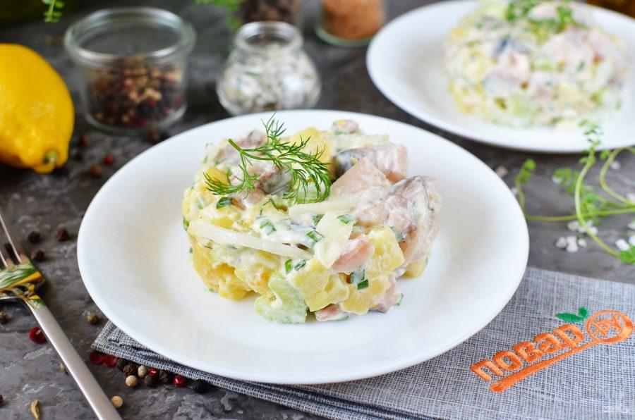 Салат из скумбрии