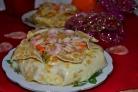 Рис с овощами, креветками и кальмарами