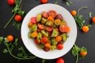 Салат с картофелем и помидорами на Новый год